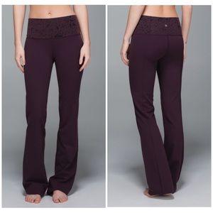 Lululemon Groove flare pants black cherry 12
